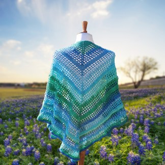 Texas Bluebonnet Shawl Crochet Pattern