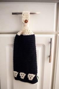 Skull Kitchen Towel Crochet Pattern