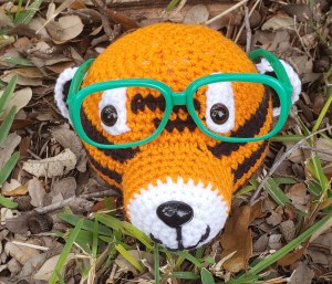Tiger Eyeglass Holder Crochet Pattern