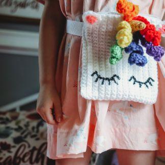 Unicorn Fanny Pack Crochet Pattern
