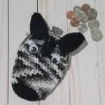 Zebra Coin Purse Crochet Pattern