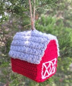 barn ornament crochet pattern