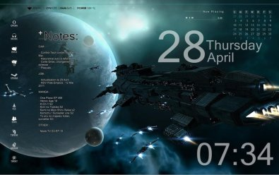 Space: Best Rainmeter Themes and Rainmeter Skins