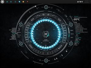 Tech-A: One of the best rainmeter theme