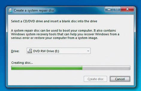 Proses transfr windows repair disk ke CD atau DVD