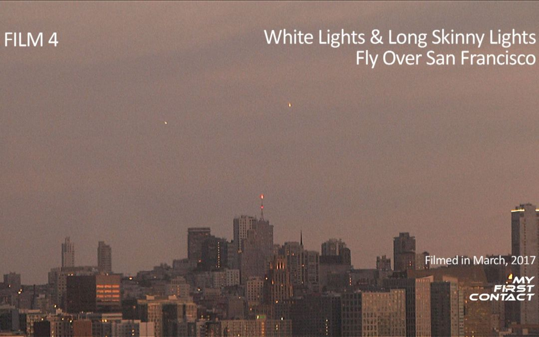 Film 4: White Lights & Long Skinny Lights Fly Over San Francisco