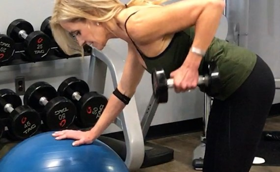 stability ball rows