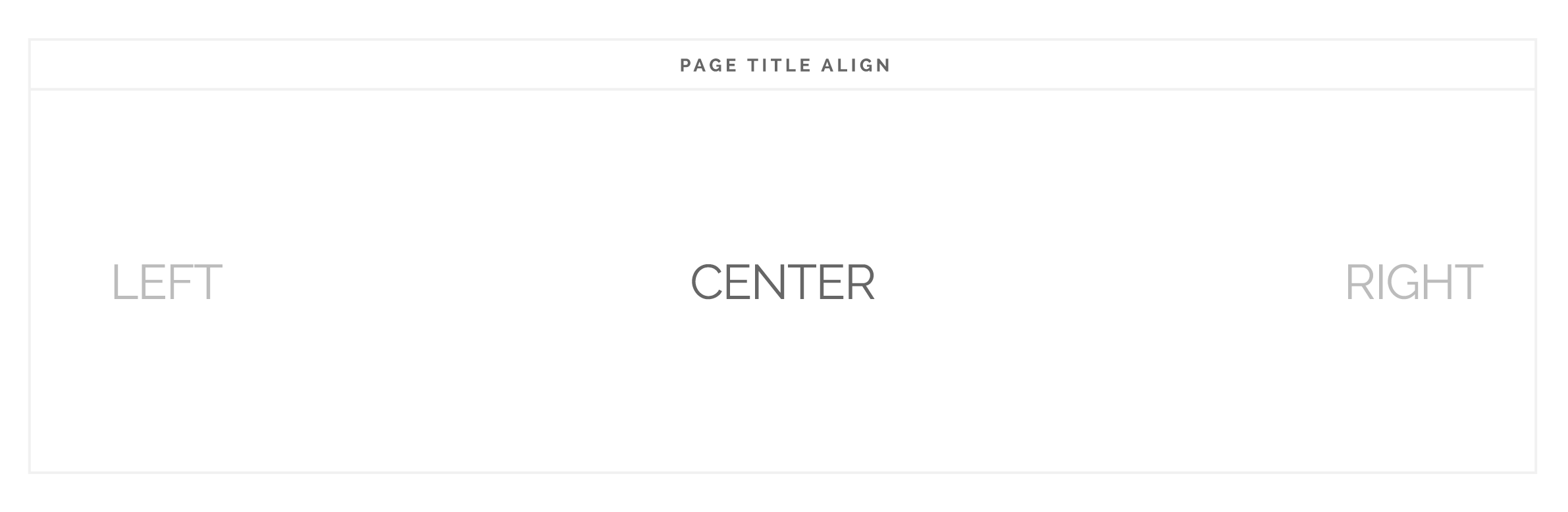 Page Title Alignment