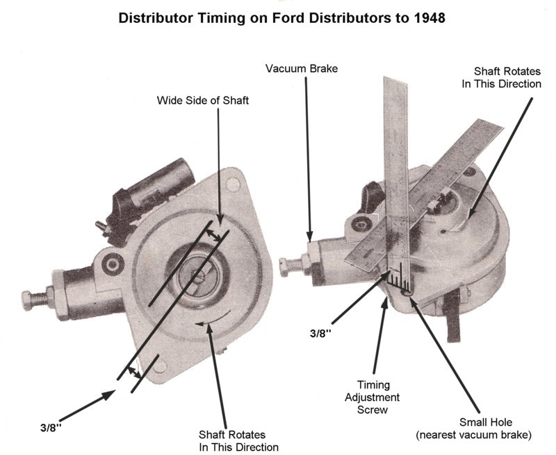 flathead engines archives the flat spot 3 ignition timing procedure for 1942 to 1948 distributors