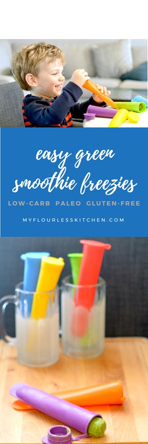 easy green smoothie freeezies