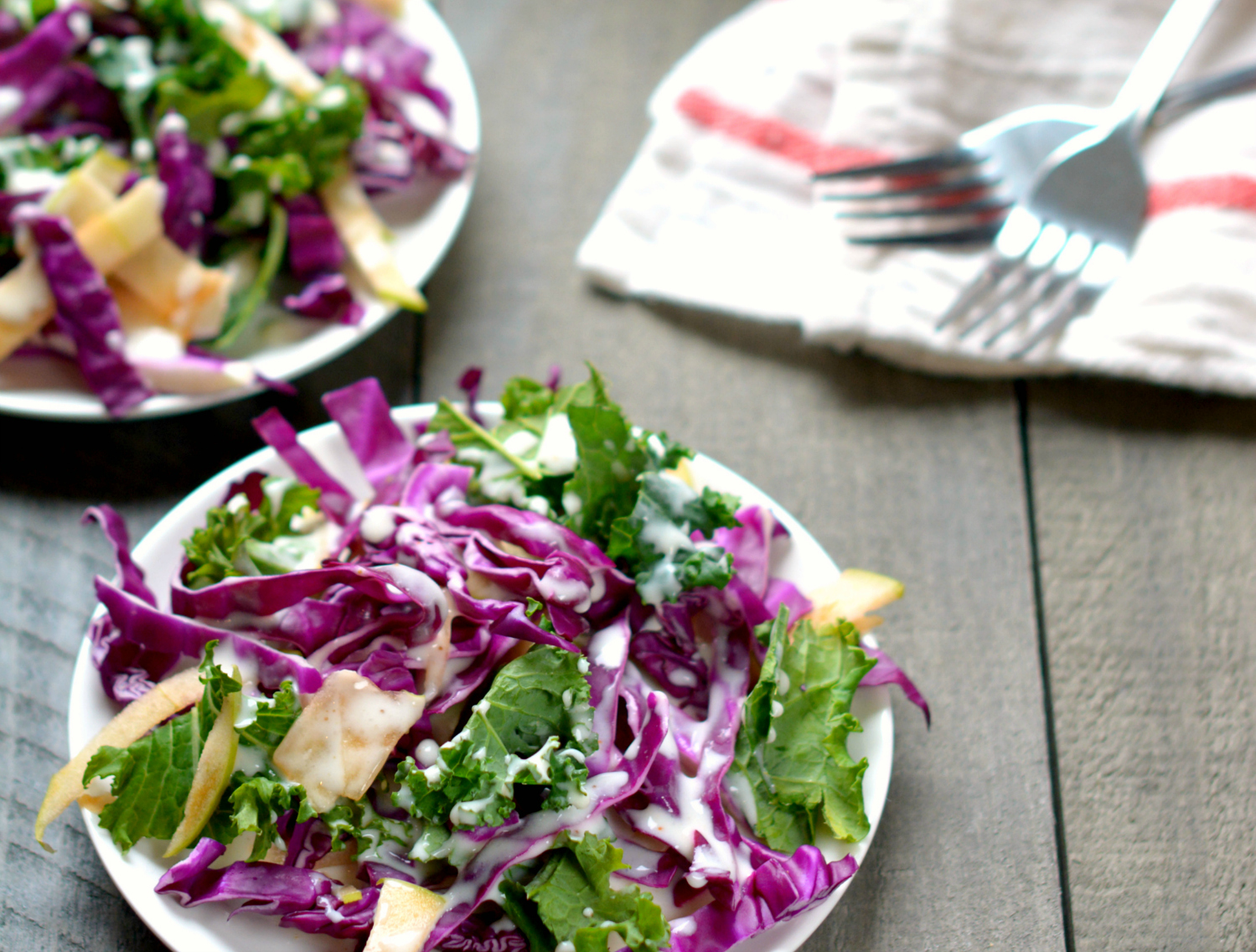 Creamy Kale Apple Coleslaw: Grandma's Recipe, Updated