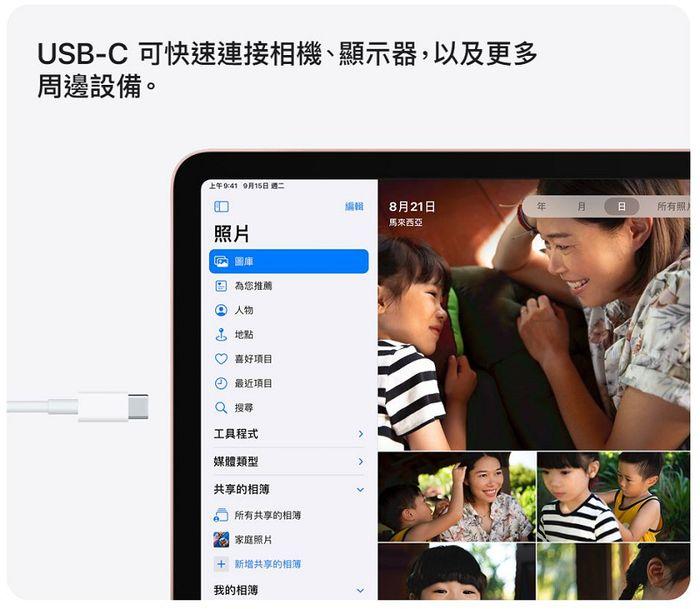 iPad Air 4 搭載USB-C,更通用、更輕便