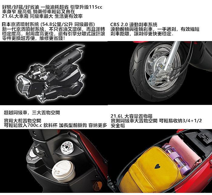 三陽 WOO 115 七期 CBS鼓煞 (2020新車)