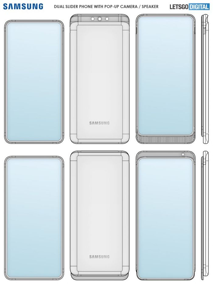 雙滑蓋智慧型手機的專利