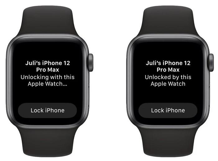 可以使用 Apple Watch 解鎖 iPhone 手機