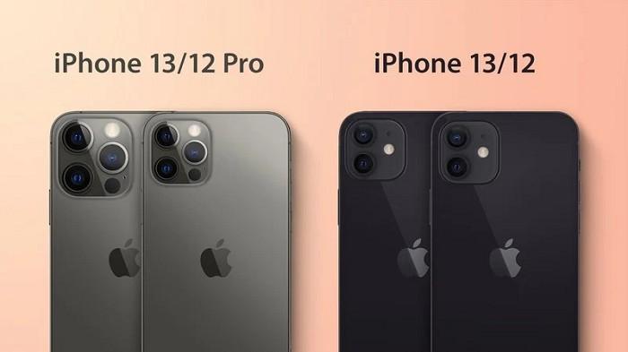 iPhone 13模型機身看起來比iPhone 12要厚