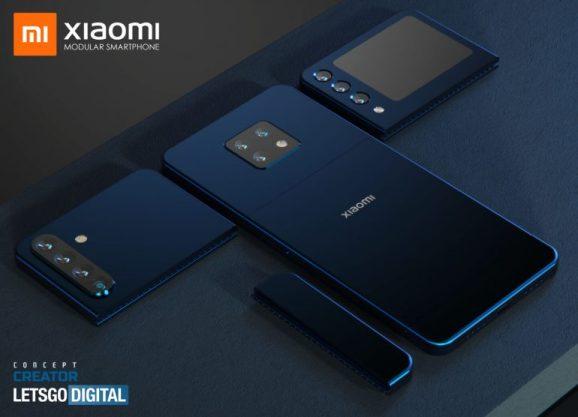 由數個模組所組合的智慧型手機