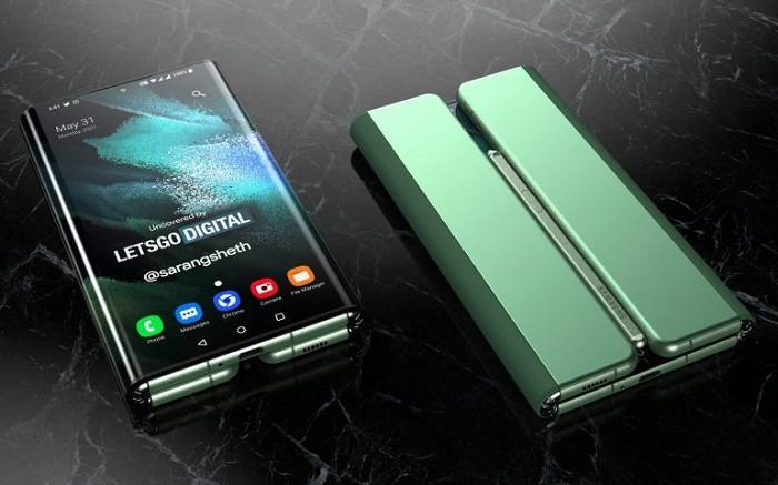 支援 S Pen 的 Samsung Z Fold Tab