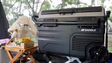 露營裝備推薦 開箱SANSUI山水35L行動冰箱,結合LG壓縮機、雙槽雙溫控最強空間利用