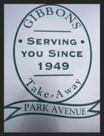 Gibbons takeaway Park Avenue - online ordering menu phone number opening hours times