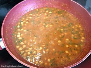 Cooked Chole with Coriander leaves