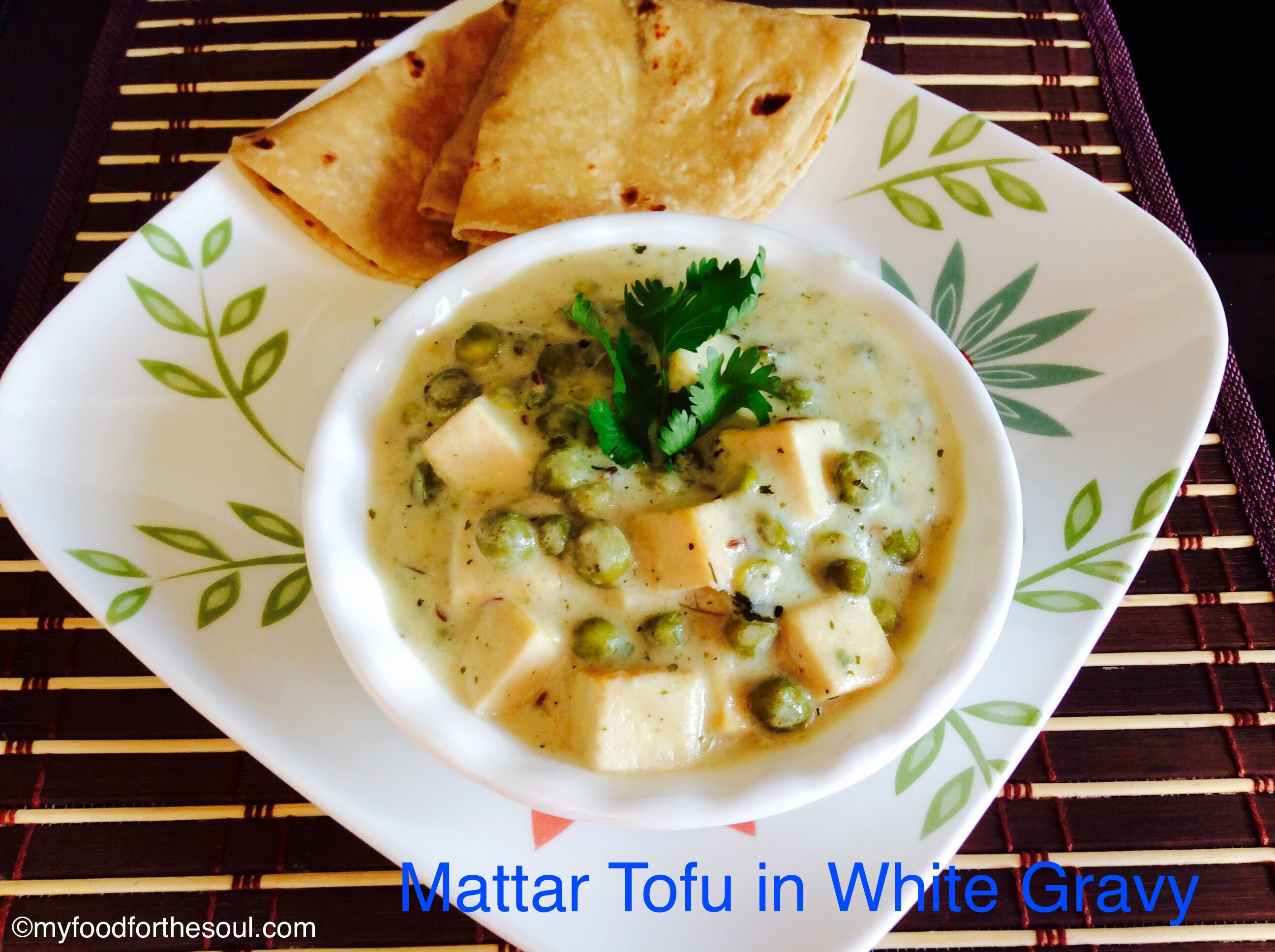 Mattar Tofu in White Gravy