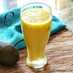 Pineapple Pear Avocado and Orange Juice Smoothie