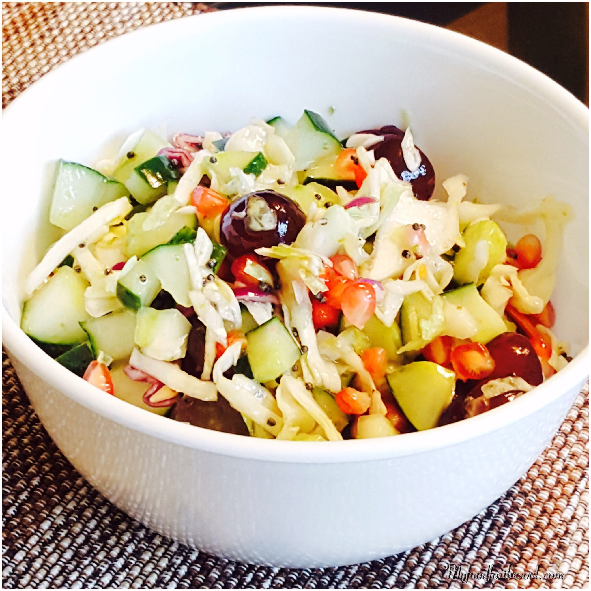 Cabbage Cucumber Grape Salad