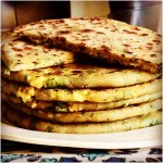 Spinach Green Onion Paratha