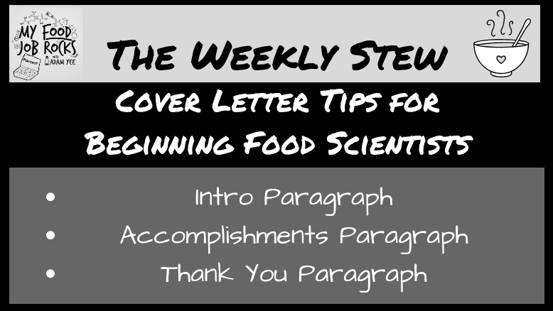 Cover Letter Tips for Beginning Food Scientists - My Food Job Rocks!