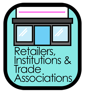 MyFoodSafety.net icon representing the sub-topic for Institutions, Trade Associations and retailers.  EFSA is a European organisation.
