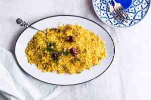 Raw Mango and Turmeric Brown Rice