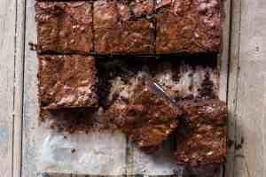 Oreo Stuffed Double Chocolate Brownies