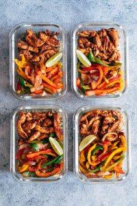 Chicken Fajita Meal Prep Lunch Bowls with Cilantro Lime Quinoa