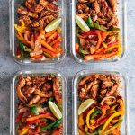 Chicken Fajita Meal Prep Lunch Bowls with Cilantro Lime Quinoa