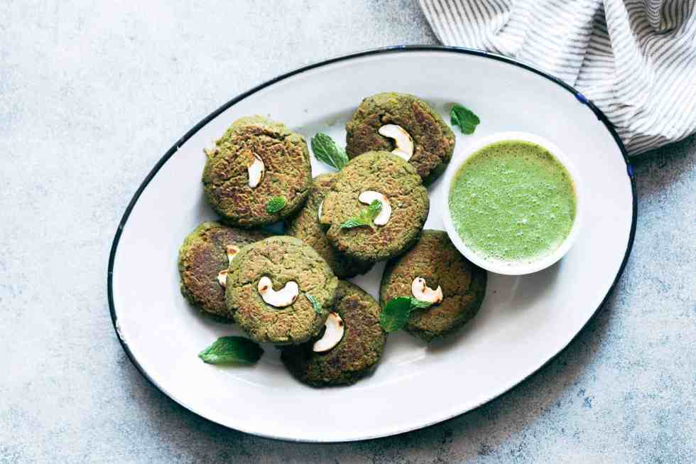 Easy to make soya hara bhara kebabs are a healthy twist to restaurant style hara bhara kebabs. These are perfect if you are looking for vegetarian kebabs!