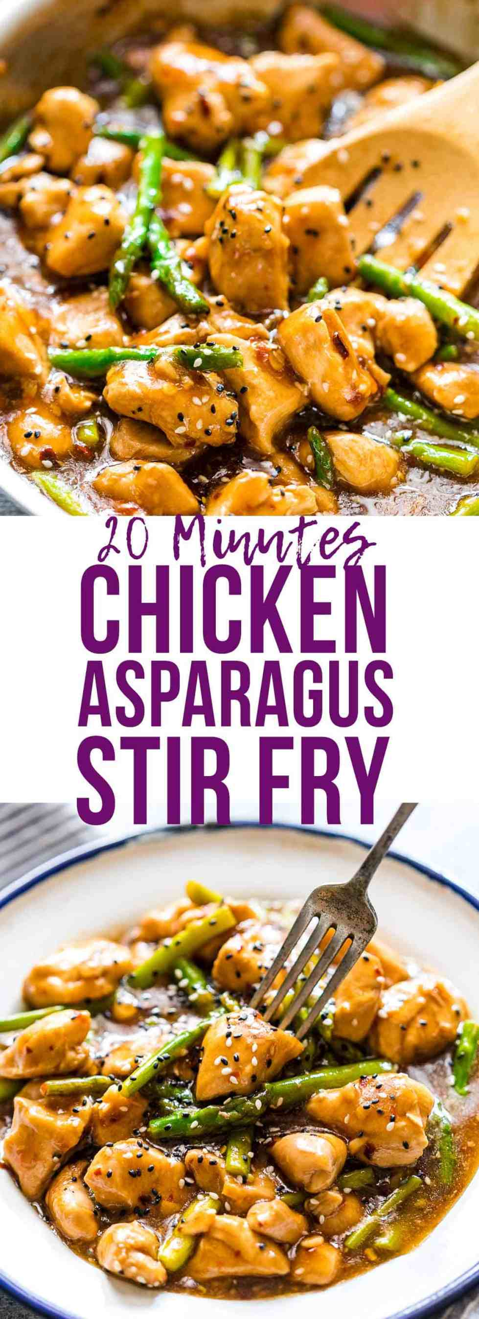 Easy lemon ginger chicken asparagus stir fry is a quick, 30 minute asian recipe that's sure to be a hit with the family. It's low carb and can gluten free too so you can enjoy it guilt-free! Add your favourite veggies to make it super healthy