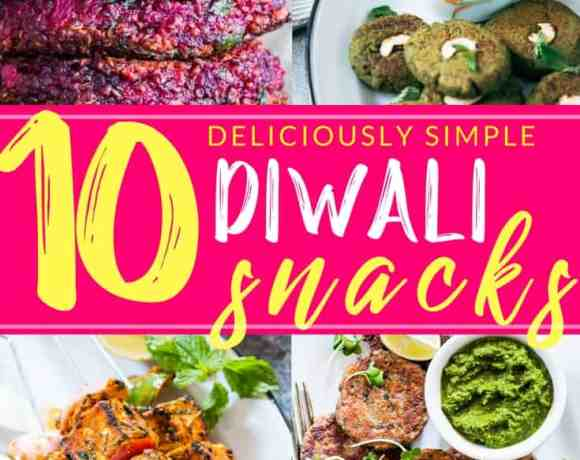 A collection of 10 Diwali snack recipes that are sure to light up your Diwali Party! These recipes are easy and most of them can be made ahead so that you can spend more time with your guests than in the kitchen.
