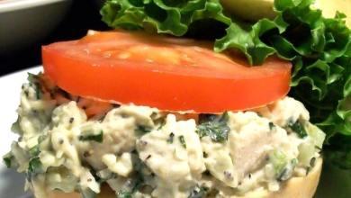 Basil Parmesan Chicken Salad