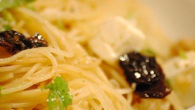 angel hair pasta with feta