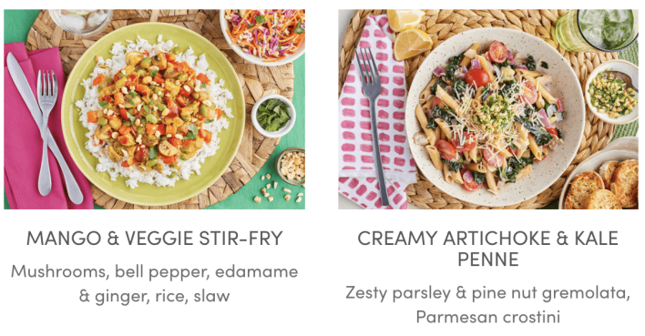Green Chef Vegetarian Options