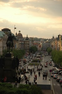 Вид на Вацлавскую площадь