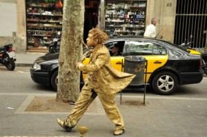 """""""Живые"""" статуи в Барселоне"""