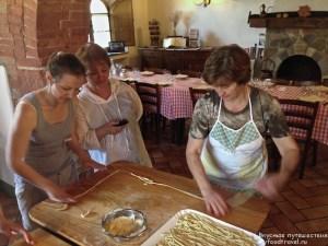Приготовление пичи в мамой Анной