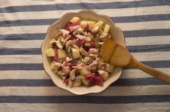 Говядина с картофелем и беконом