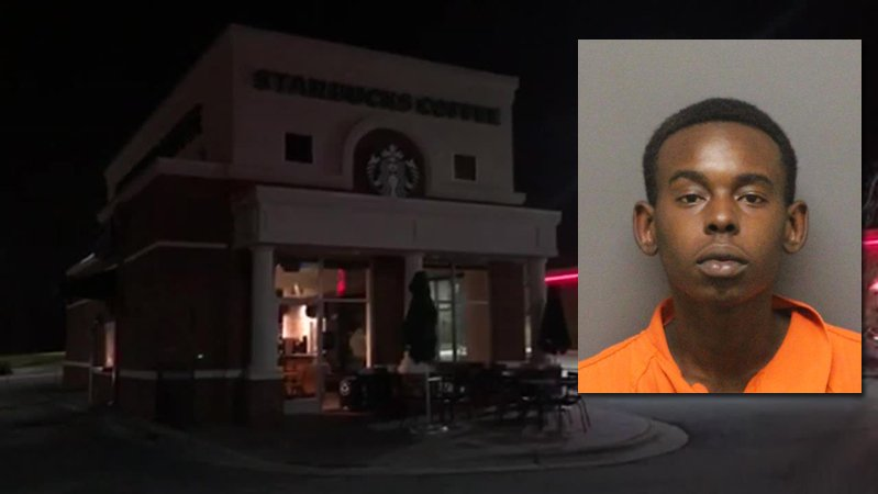 Anthony Bernard Brice is accused of robbing a Starbucks in Greensboro at gunpoint.
