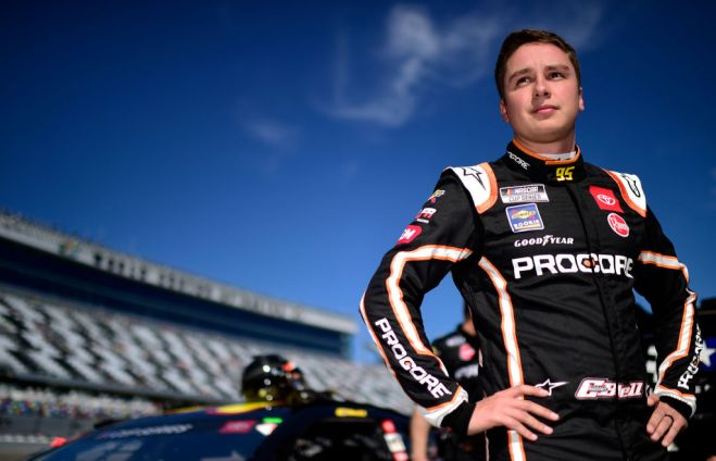 DAYTONA BEACH, FLORIDA - FEBRUARY 09: Christopher Bell, driver of the #95 Procore Toyota, stands on the grid during qualifying for the NASCAR Cup Series 62nd Annual Daytona 500 at Daytona International Speedway on February 09, 2020 in Daytona Beach, Florida. (Photo by Jared C. Tilton/Getty Images)