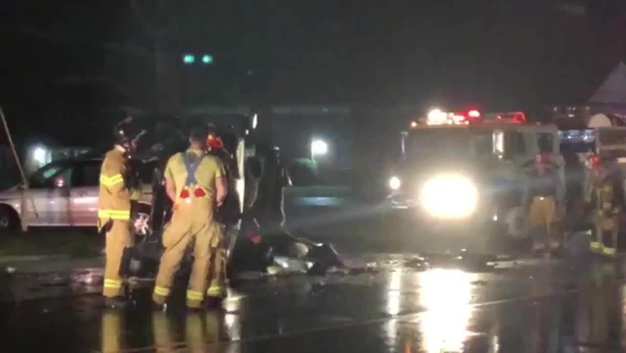Wreck on NC Highway 8 near Lexington (Aaron Shindledecker/WGHP)