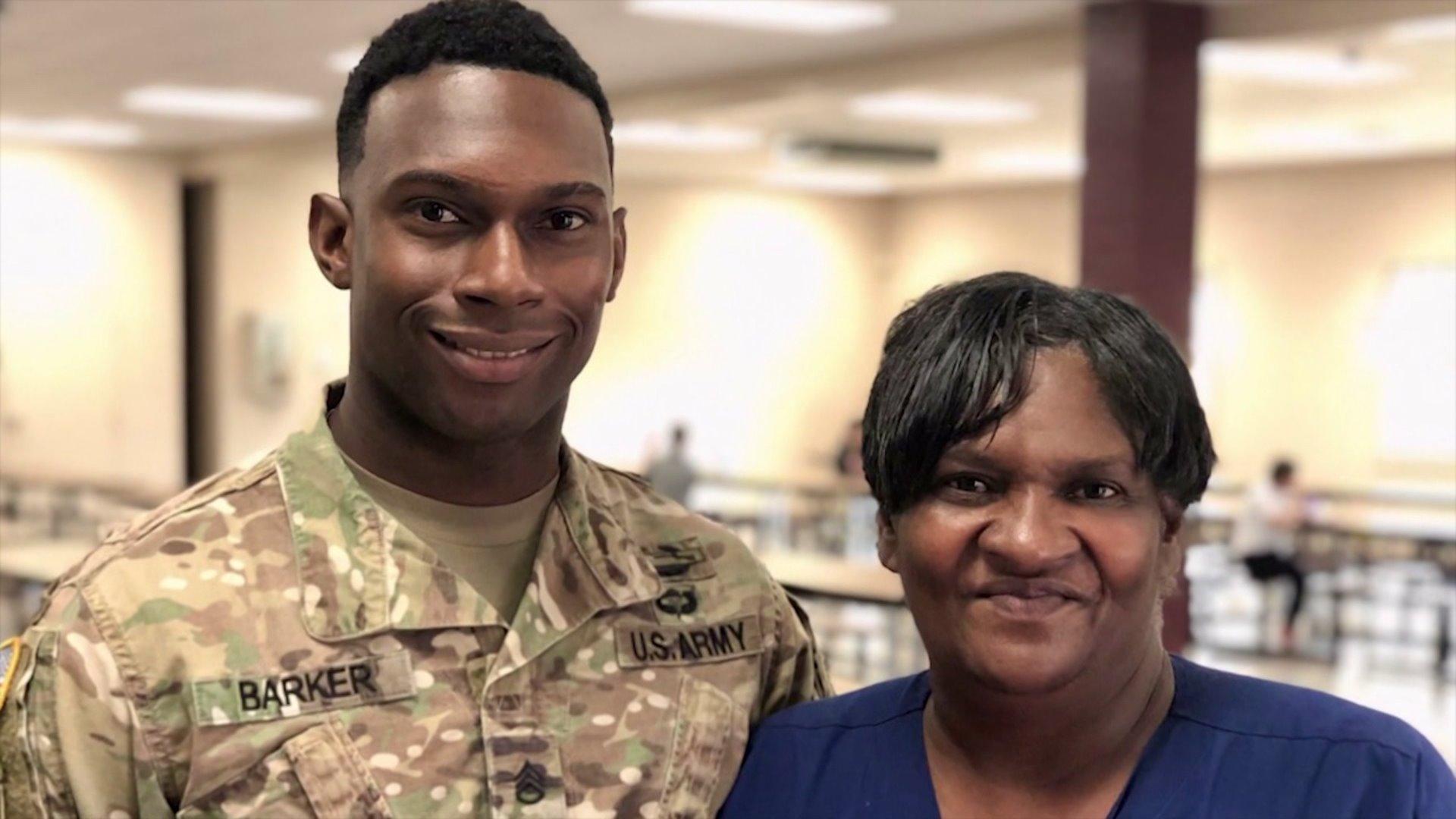 Fort Bragg soldier surprises mom at school