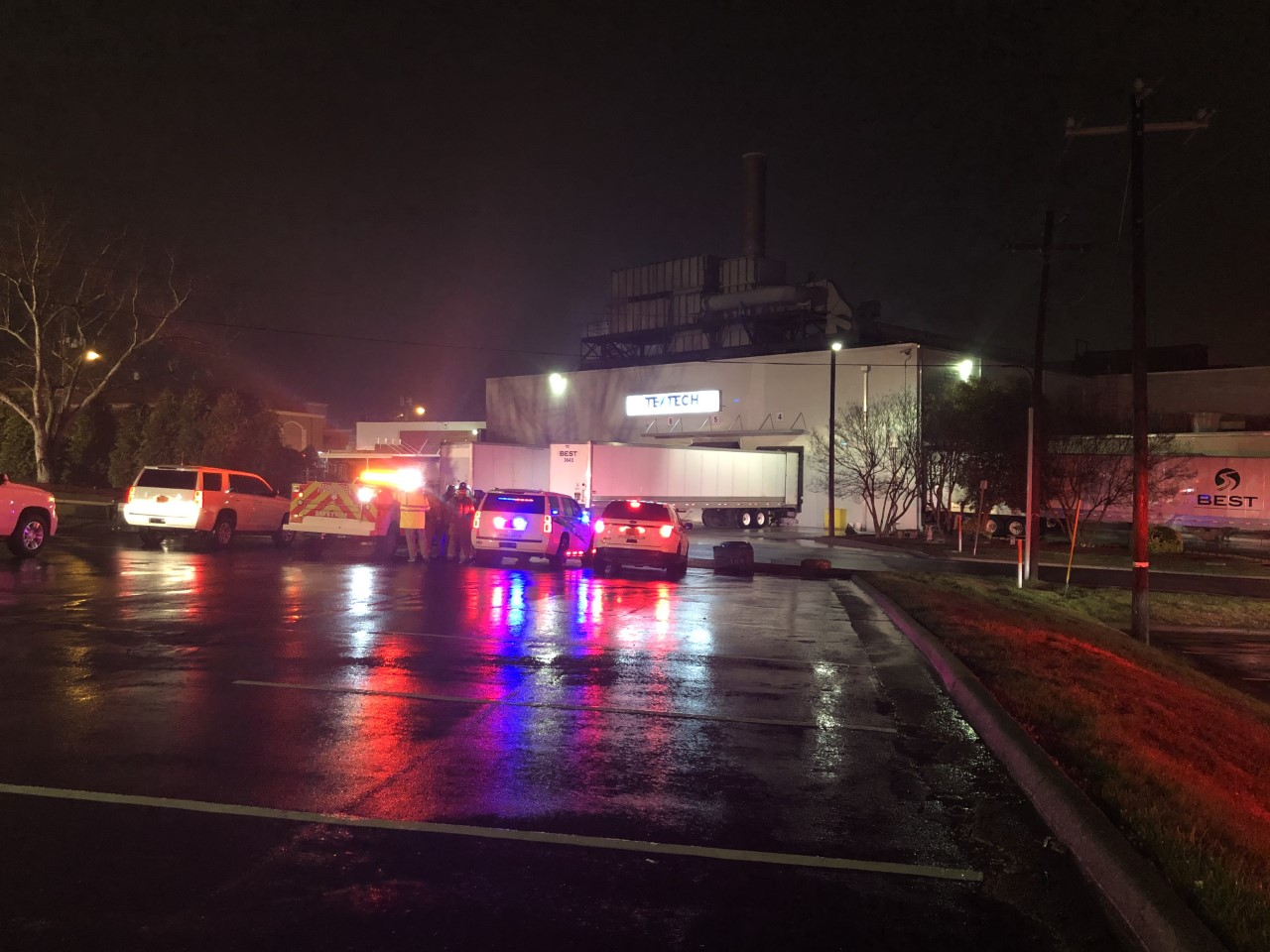 Fire at TexTech Coatings (Joe Dougherty/WGHP)